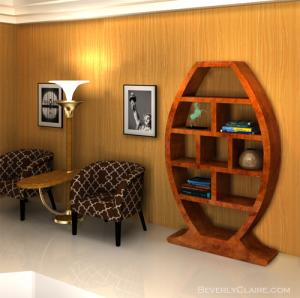 Art Deco Bookshelf and Uplighter